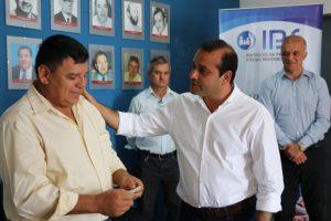 Herrera Ahuad participó de la entrega de créditos a jubilados del IPS