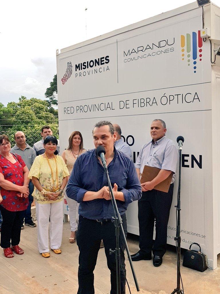 Marandú inauguró los nodos de fibra óptica de Andresito y Bernardo de Irigoyen