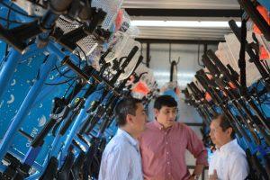 Para disfrutar de Posadas en bicicleta, el Banco Macro habilitó la segunda bici estación