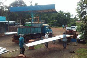 ACTIM: casi cuatrocientos colonos tabacaleros  cambian techos de cartón por chapas de zinc