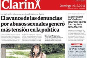 Las tapas de los diarios del domingo: El aumento de las denuncias por abuso y la despedida de Romagnoli