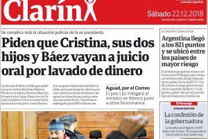 Las tapas del sábado 22: El Riesgo País, Cristina y el nuevo DT de Boca