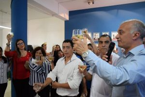 Arce cerró el año brindando con los trabajadores del IPS