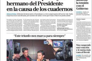 Las tapas del martes 11: Bonadio citó al padre y hermano de Macri a declarar