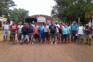 Empleados de la empresa Henter de Montecarlo realizan protesta por falta de pago
