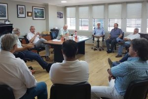 Aicheler se reunió con dirigentes empresarios para explicar aumentos y detallar obras para mejorar el servicio