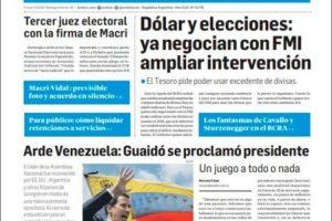 Las tapas del jueves 24: La caída del consumo, el dólar, las elecciones y Venezuela