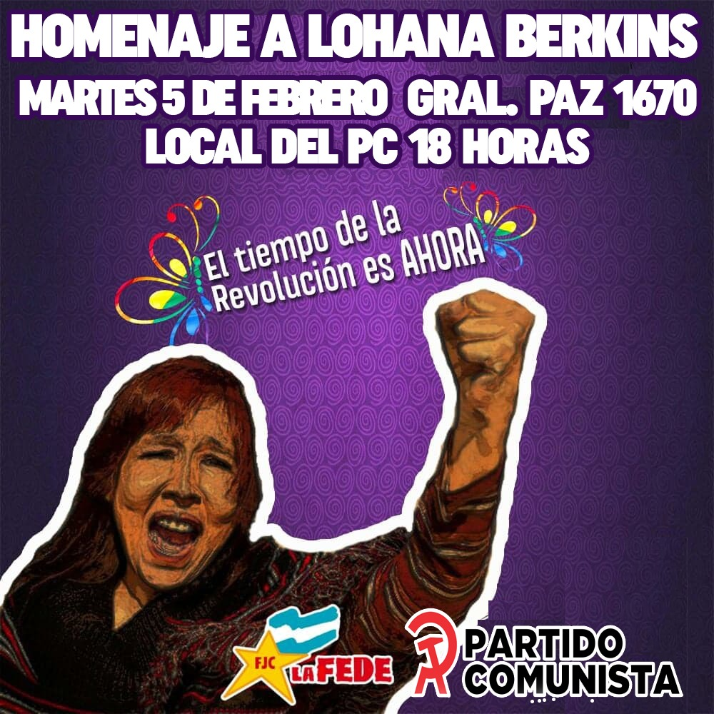 Homenajearán a Lohana Berkins en la sede del PC Misiones