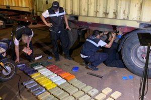 Incautaron 31 kilos de cocaína y 46 kilos de pasta base en el puente internacional San Roque González
