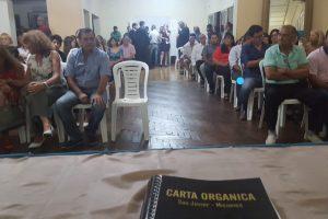 Lenguaza criticó la ausencia del intendente Lemes en la jura de la Carta Orgánica de San Javier