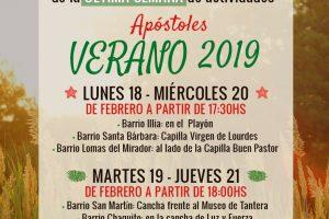 """María Eugenia Safrán convoca a la última semana del """"Apóstoles Verano 2019"""""""