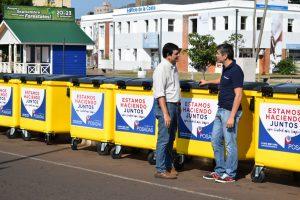 Posadas: El municipio incorporó 250 nuevos contenedores y 300 carritos para barrido.