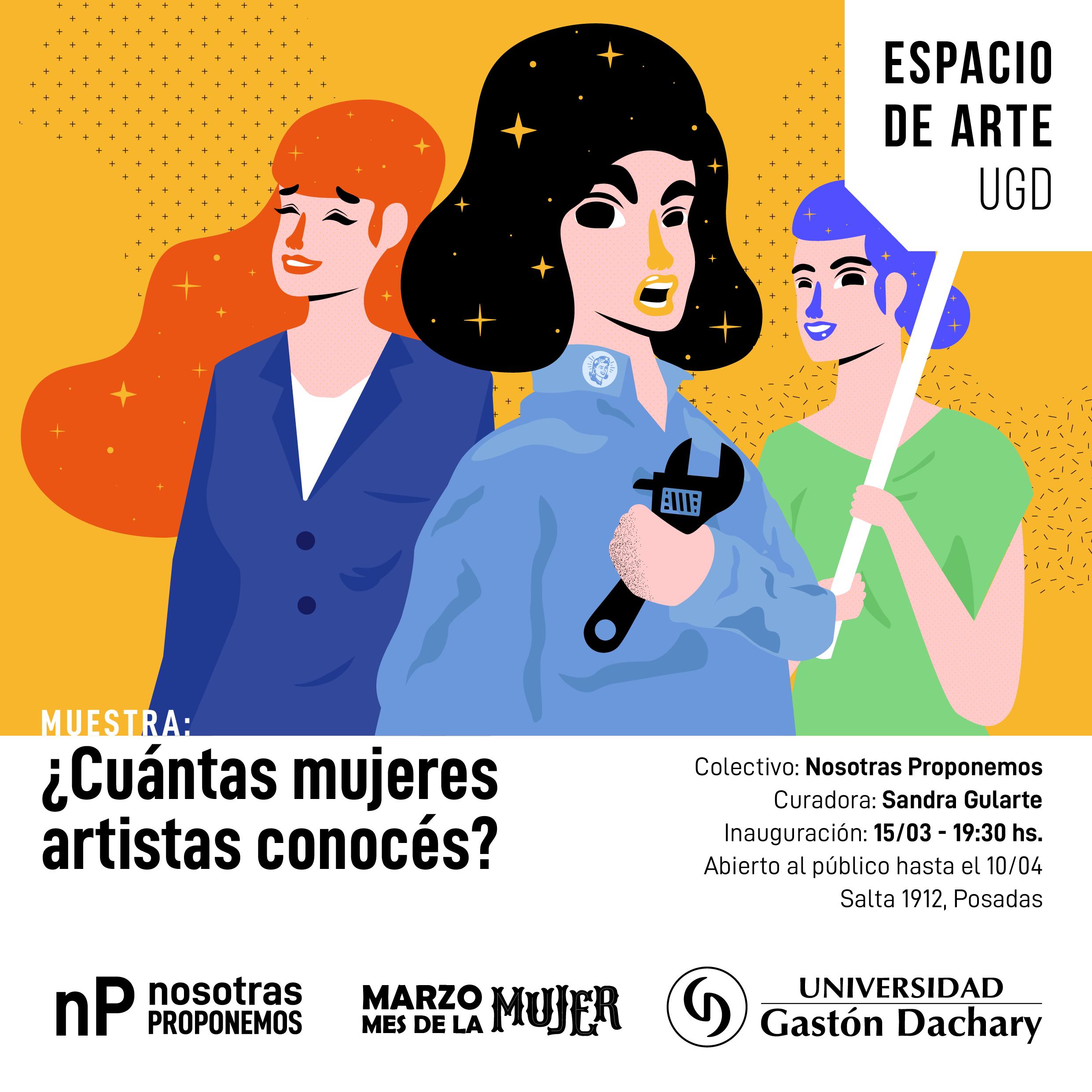 El Espacio de Arte de la UGD inaugura el viernes una muestra dedicada a las artistas misioneras