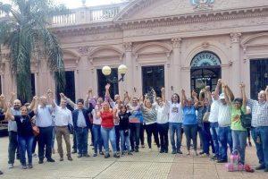 El Frente Popular Agrario y Social presentó a sus referentes en la plaza 9 de Julio
