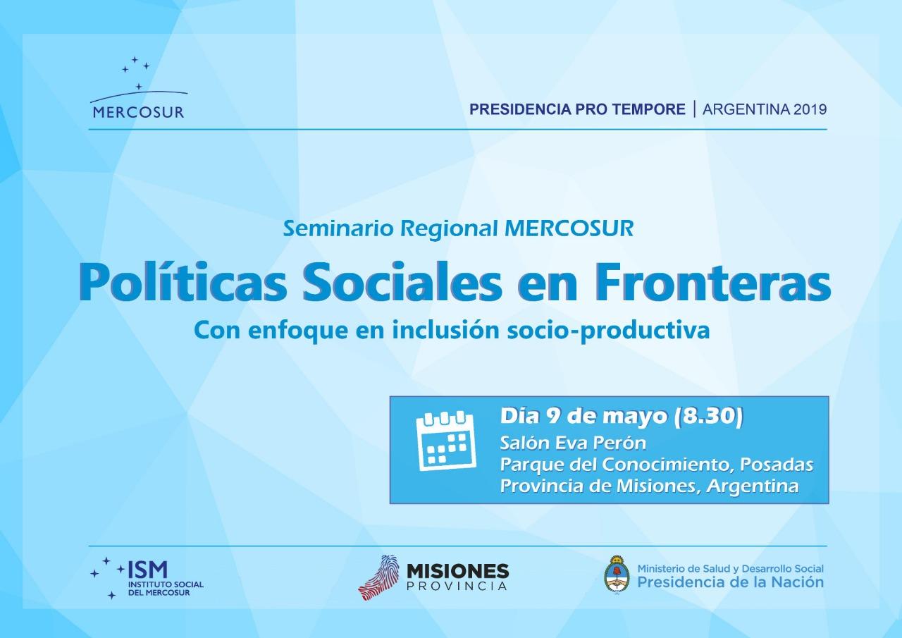 Inclusión social y productiva en el foco del seminario internacional sobre políticas sociales enfronteras