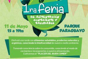 Este sábado habrá feria de alimentación consciente en el Parque Paraguayo de Posadas