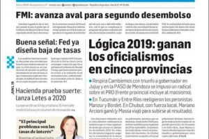 Las tapas del lunes 10 de junio: Triunfo del PJ en Tucumán, Entre Ríos y Chubut y la primera victoria de Cambiemos en Jujuy