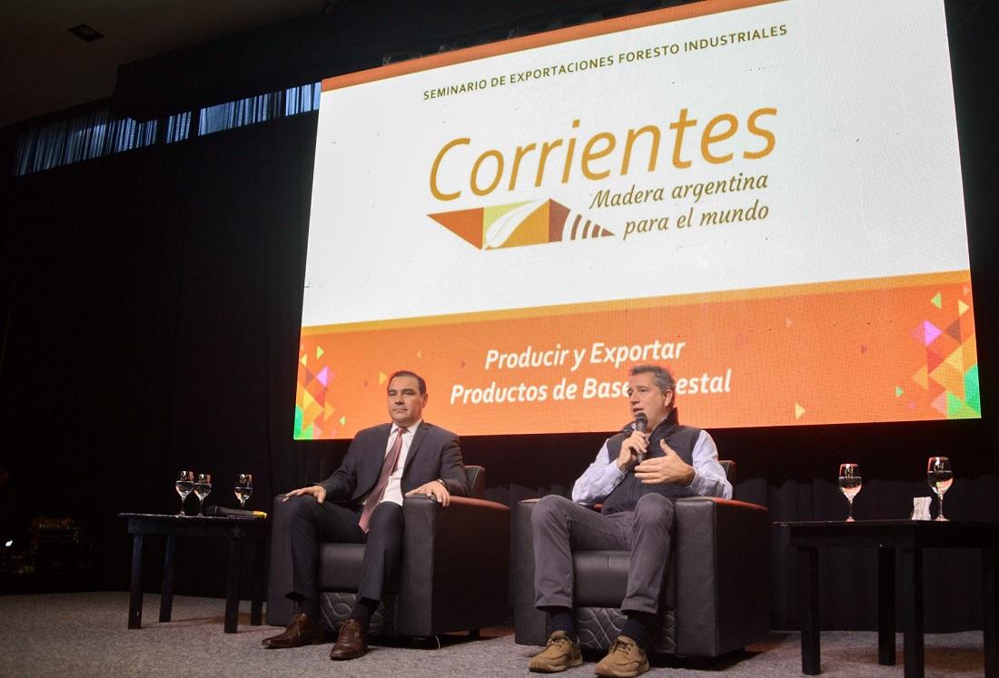 """Etchevehere inauguró el primer Seminario """"Madera Argentina para el Mundo"""""""