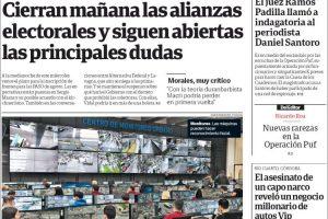 Las tapas de los diarios del martes: El inminente cierre de las alianzas y el suspenso por Massa