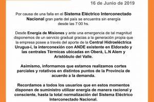 Apagón general: Misiones fue la primera provincia en recuperar el servicio eléctrico