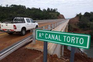 """Quedó habilitado el nuevo puente sobre el arroyo """"Canal Torto"""""""