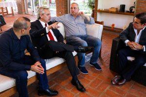 Passalacqua, Herrera y Rovira recibieron a Alberto Fernández
