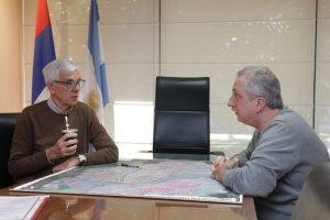 Passalacqua repasó plan de obras en reunión de trabajo en el Iprodha