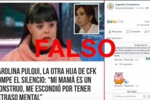 """Es falso que CFK tiene una """"hija escondida"""" con síndrome de down"""