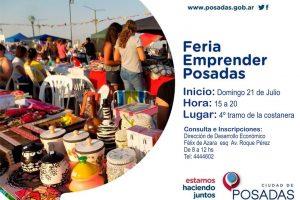 """El próximo domingo se realizará una nueva edición de la Feria """"Emprender Posadas"""""""