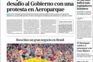 Las tapas del jueves 25: Boca ganó en Brasil y polémica por el mensaje de los pilotos de Aerolíneas