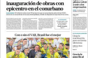 Las tapas del lunes 8 de julio: Brasil campeón y la campaña, que espera a que pase el frío para arrancar