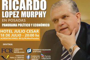 López Murphy disertará sobre el panorama económico y político