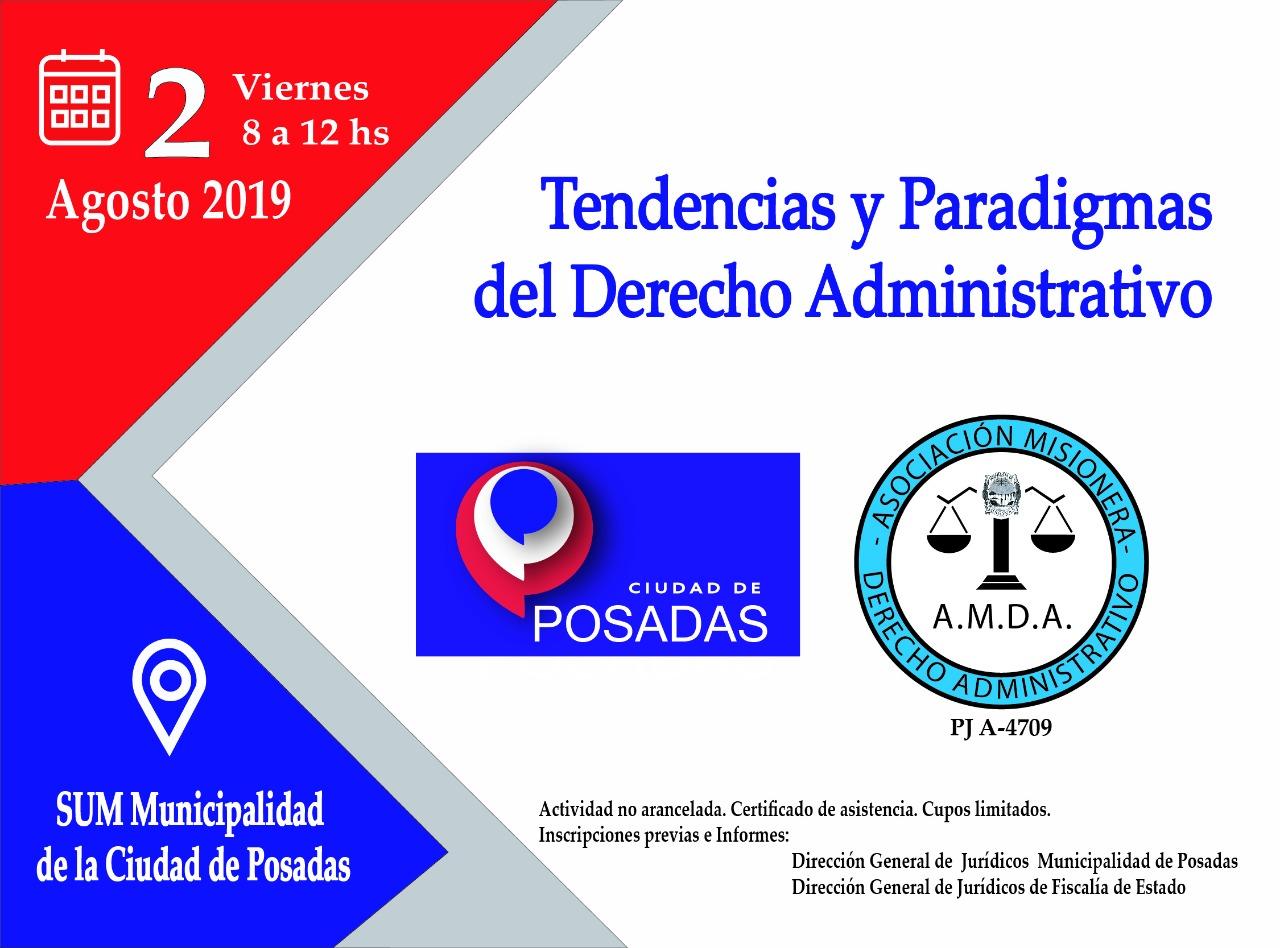 """Mañana viernes se realizará la jornada """"Tendencias y Paradigmas del Derecho Administrativo"""""""