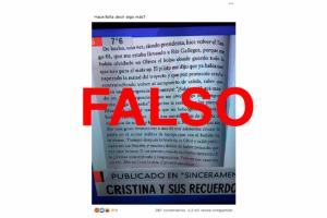 El texto leído por Feinmann sobre CFK y el Tango 01 no fue escrito por la ex presidenta, como se dijo en redes