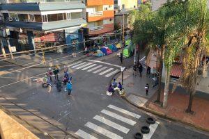 Malestar y preocupación por perjuicios ocasionados por acampe en Junín y Sarmiento