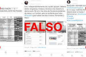 Los telegramas con errores no implican que haya habido fraude electoral