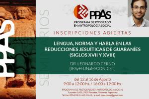 Dictarán seminario sobre lengua, norma y habla en las reducciones jesuíticas