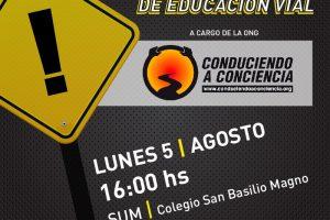 La ONG Conduciendo a Conciencia brindará charlas de Educación y Seguridad vial en Posadas