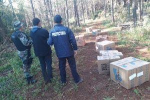 Prefectura secuestró cigarrillos en Misiones y detuvo a uno de los contrabandistas