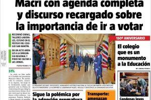 Las tapas del sábado 3: Macri en Corrientes y la recta final a las PASO