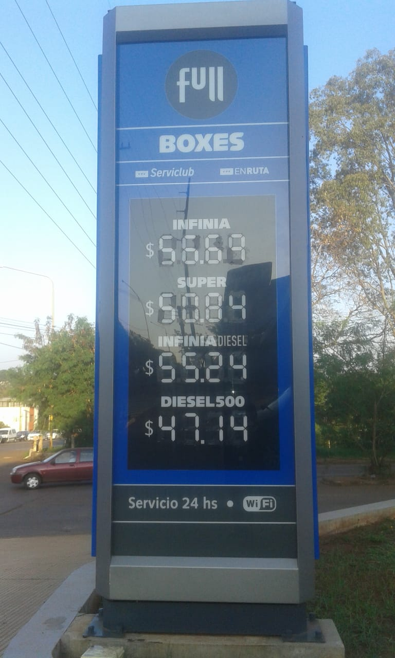 Tras el descongelamiento, el litro de nafta en Misiones superó la barrera de los 50 pesos, cinco pesos más cara que en Buenos Aires