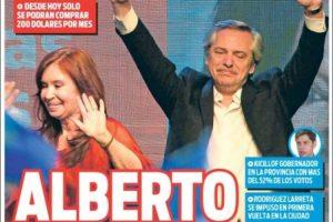 Las tapas del lunes: Cómo reflejó cada diario el triunfo de Alberto y qué lugar le dio a CFK en sus portadas
