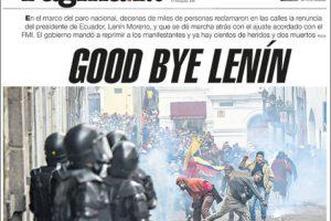 Las tapas del jueves 10: Se profundiza la crisis en Ecuador