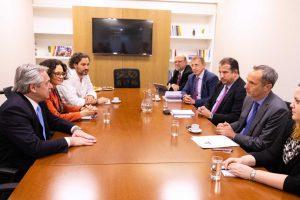 Alberto Fernández recibió a una delegación del Banco Mundial