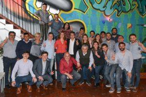 Lanziani participó de una cena junto a los candidatos del Frente de Todos por La Plata