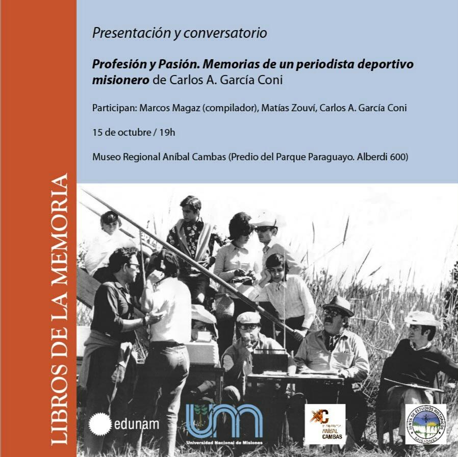 """Carlos García Coni presenta su nuevo libro """"Profesión y Pasión"""" editado por Edunam"""