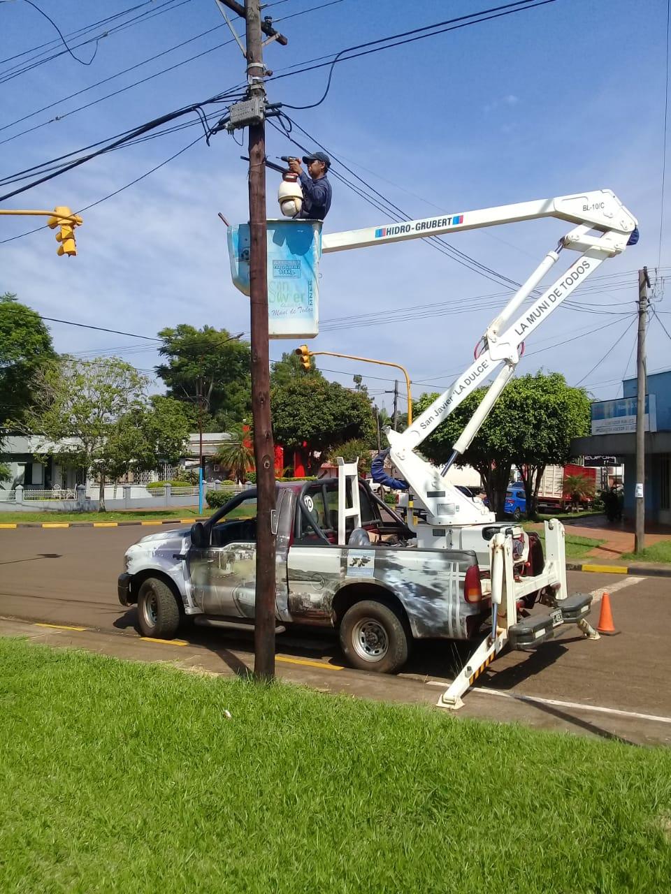 Instalan cámaras de seguridad en San Javier