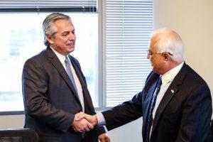 Alberto Fernández recibió al embajador de Estados Unidos, Edward Prado