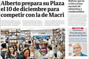 Las tapas del lunes 18: El traspaso de mando y dos actos en Plaza de Mayo, el 7D y el 10D