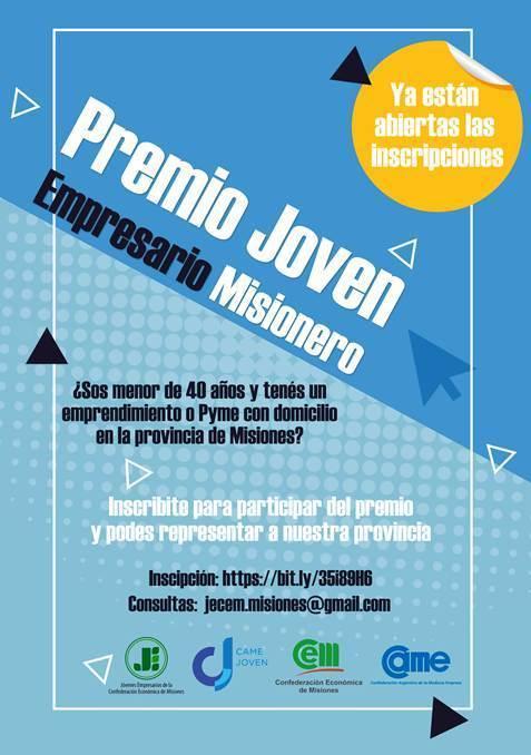 Inscripciones abiertas para participar del premio Joven Empresario de la CEM